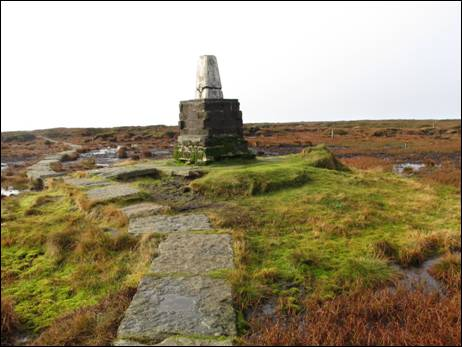 Windy Gyle on the route of the Pennine Way