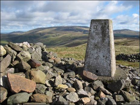 The summit of Windy Gyle